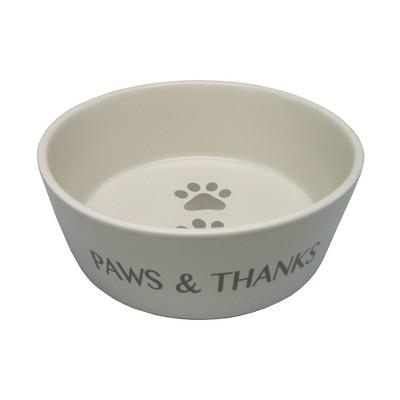Icon Ceramic Cat and Dog Bowl - Cream - Small - Boots & Barkley™