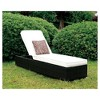 Kylen Modern Adjustable Back Patio Chaise w/Accent Pillow White - miBasics - image 3 of 3