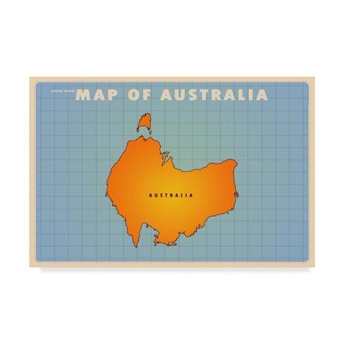 "American Flat Upside Down Australia Unframed Wall 22""x32"" - Trademark Fine Art - image 1 of 3"