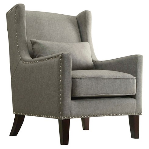 Murray Wingback Arm Chair Gray - Inspire Q - image 1 of 4