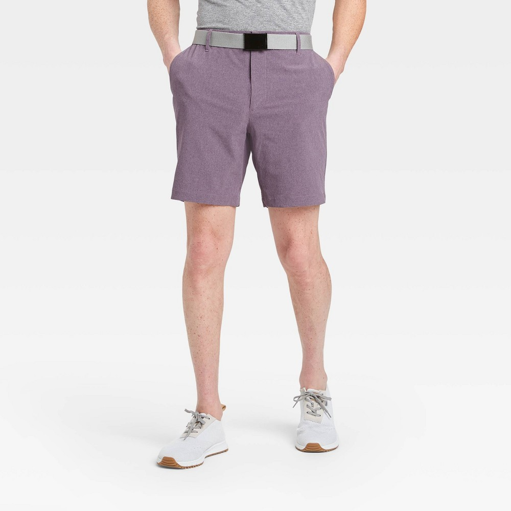 Men's Heather Golf Shorts - All in Motion Purple 42, Men's was $30.0 now $20.0 (33.0% off)