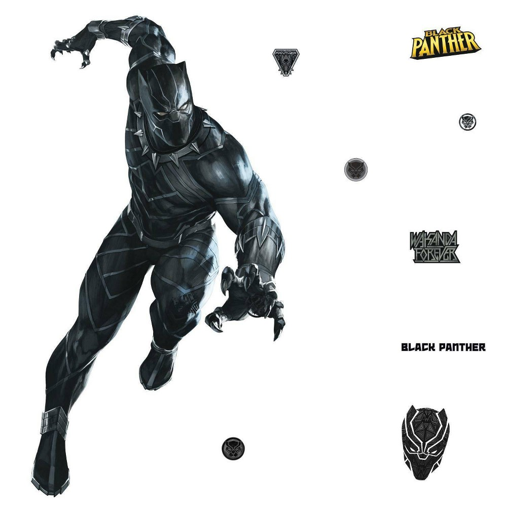 Image of Black Panther Peel and Stick Giant Wall Decal