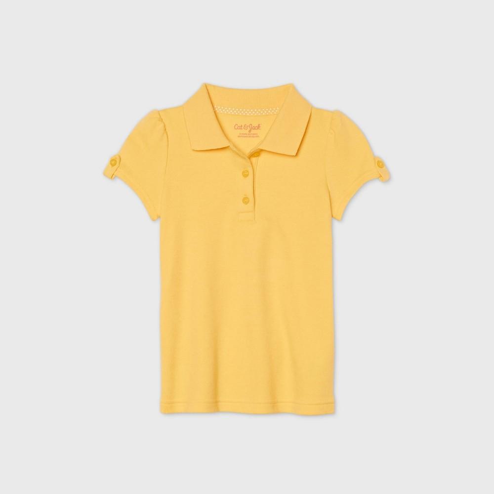 Toddler Girls 39 Short Sleeve Interlock Uniform Polo Shirt Cat 38 Jack 8482 Light Yellow 4t