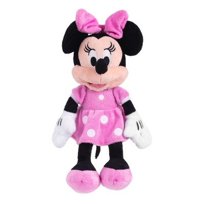 Just Play Disney Minnie Mouse 11 inch Child Plush Toy Stuffed Character Doll in Pink Dress
