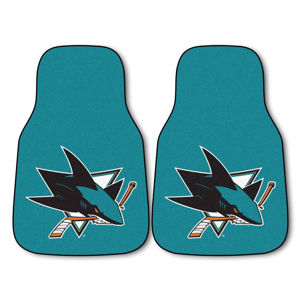 Nhl San Jose Sharks Carpet Car Mat Set 2pc