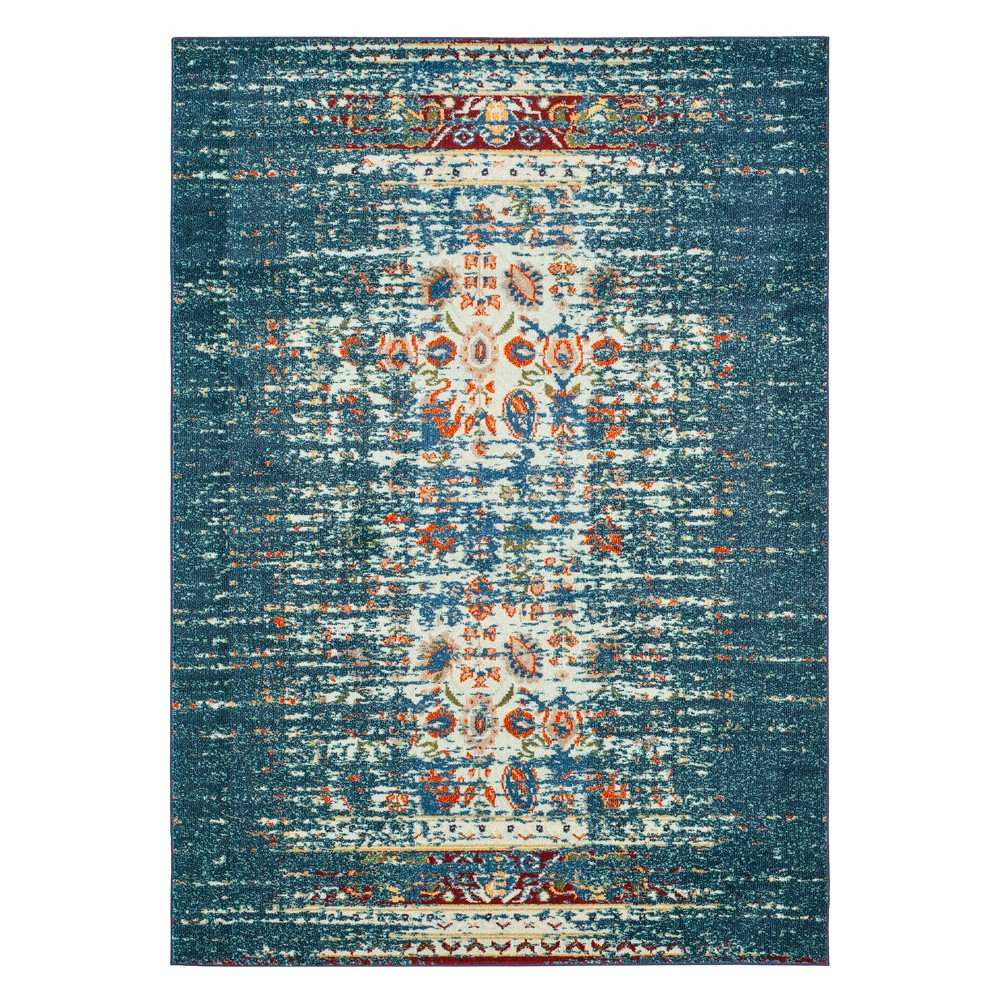 3'X5' Shapes Accent Rug Blue/Ivory - Safavieh