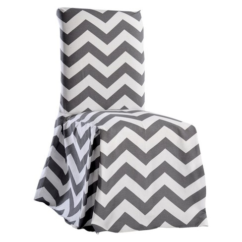 Pleasing Gray White Chevron Dining Chair Slipcover Bralicious Painted Fabric Chair Ideas Braliciousco