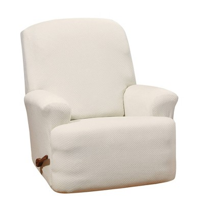 Stretch Hudson Recliner Slipcover Cream - Sure Fit