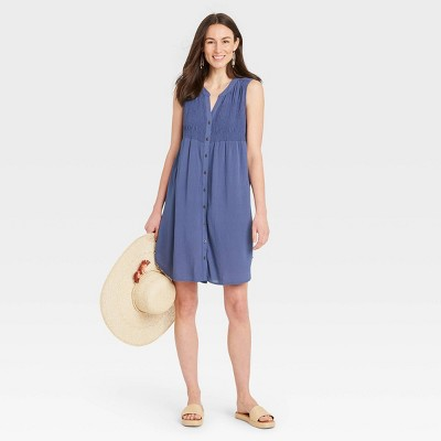 Women's Sleeveless Smocked Dress - Knox Rose™