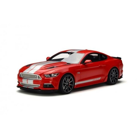 Ford Shelby Mustang Gt Red With Silver Stripes   Model Car By Gt Spirit Target