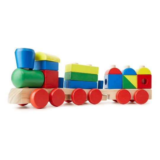 Melissa & Doug Stacking Train - Classic Wooden Toddler Toy (18pc) image number null