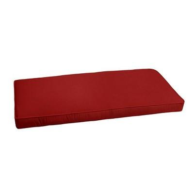 Sunbrella Jockey Outdoor Bench Cushion Red