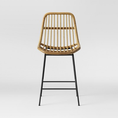 Linnet Rattan with Metal Legs Counter Height Barstool - Opalhouse™