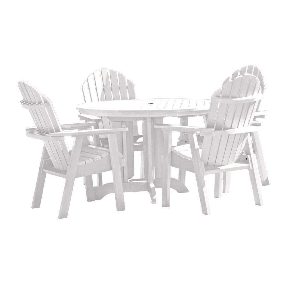 Hamilton 5pc Round Dining Set White - Highwood