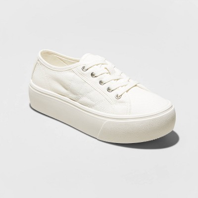 Women's Taryn Canvas Platform Sneakers - A New Day™ White 11