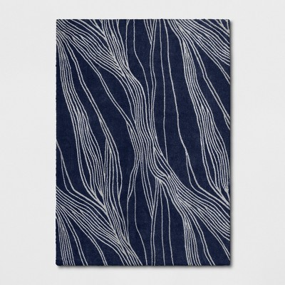 7'X10' Tufted Wave Area Rug Indigo - Project 62™