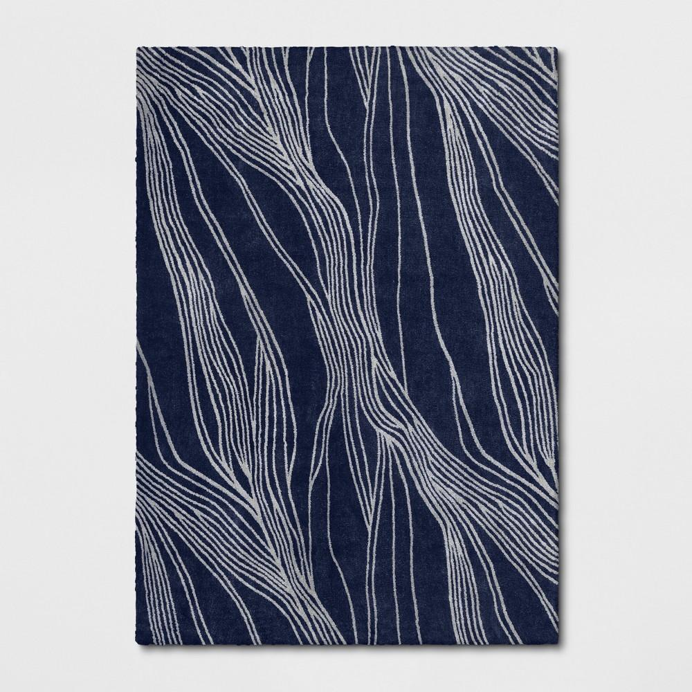 7'X10' Tufted Wave Area Rug Indigo (Blue) - Project 62