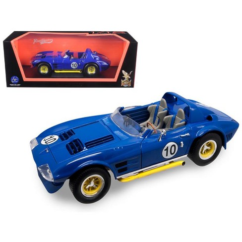 1964 Chevrolet Corvette Grand Sport Roadster #10 Dark Blue 1/18 Diecast Model Car by Road Signature - image 1 of 1