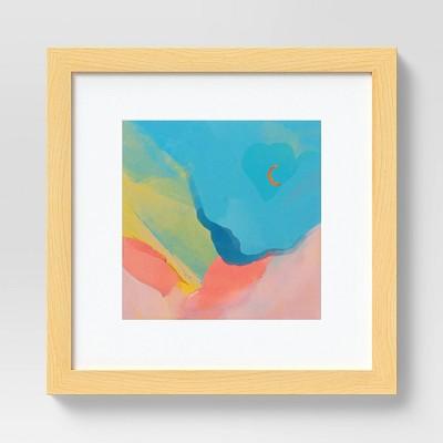 """10"""" x 10"""" Art by Morgan Harper Nichols Framed Wall Canvas Blue"""
