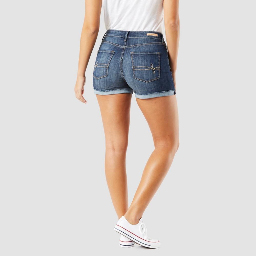 Denizen from Levi's Women's High-Rise Jean Shorts - Dark Wash 12, Blue