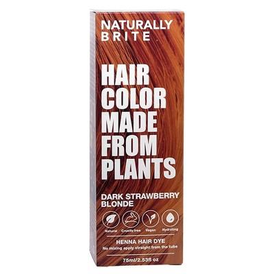 BRITE Naturally Henna Hair Dye Dark Strawberry Blonde - 2.53 fl oz
