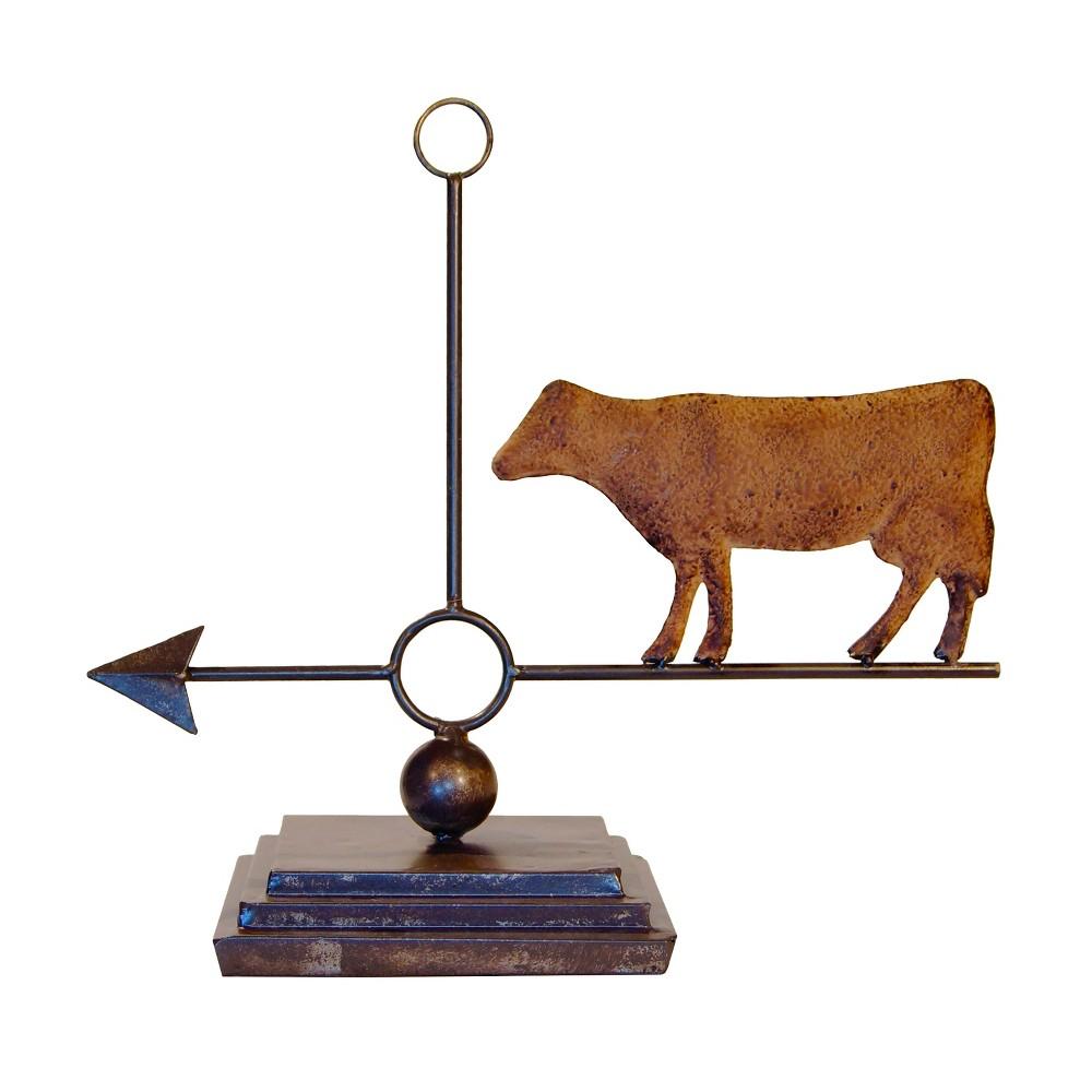 Metal Cow Weather Vane - Vip Home & Garden, Antique Wood