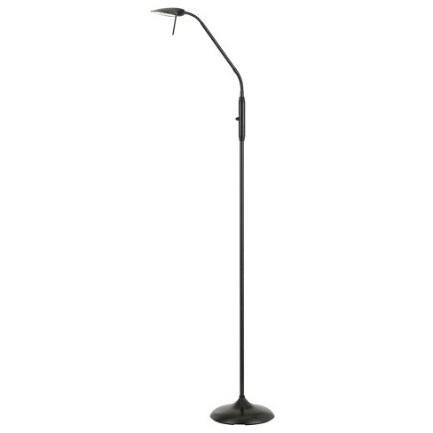 Anzio Led Metal Gooseneck Floor Lamp Bronze 5 X4 3 Includes Energy Efficient Light Bulb Cal Lighting