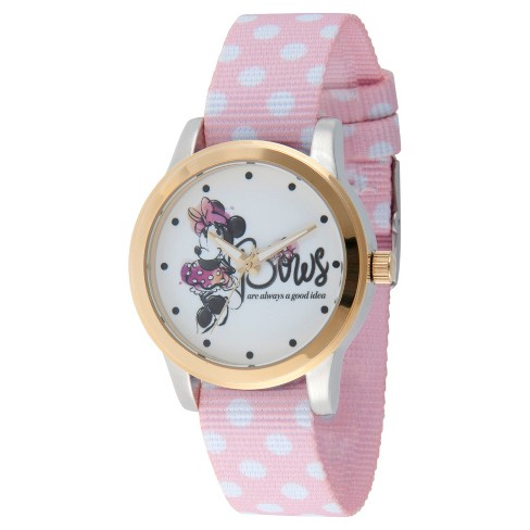 Women's Disney Minnie Mouse Two Tone Alloy Watch - Pink - image 1 of 1