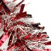 """Northlight 50' x 4"""" Unlit Red Snowblush Wide Cut Christmas Tinsel Garland - image 2 of 3"""