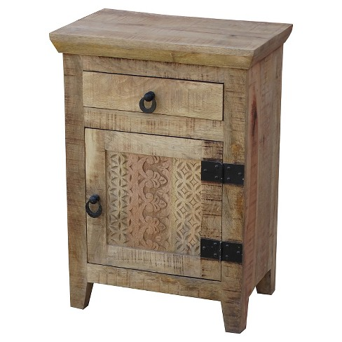 1 Door and 1 Drawer Nightstand -(28H x 20W x 13D) - Natural - Timbergirl - image 1 of 1
