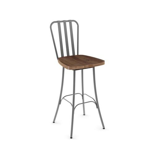 """Amisco Bond 30"""" Bar Stool with Wood Seat - image 1 of 2"""