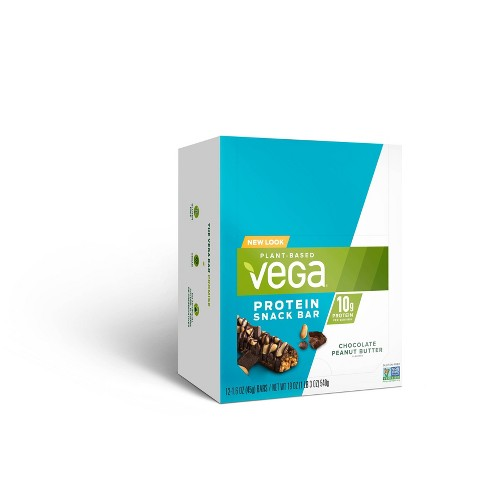 Vega Protein Snack Bar - Chocolate Peanut Butter - 12ct/1.6oz - image 1 of 4