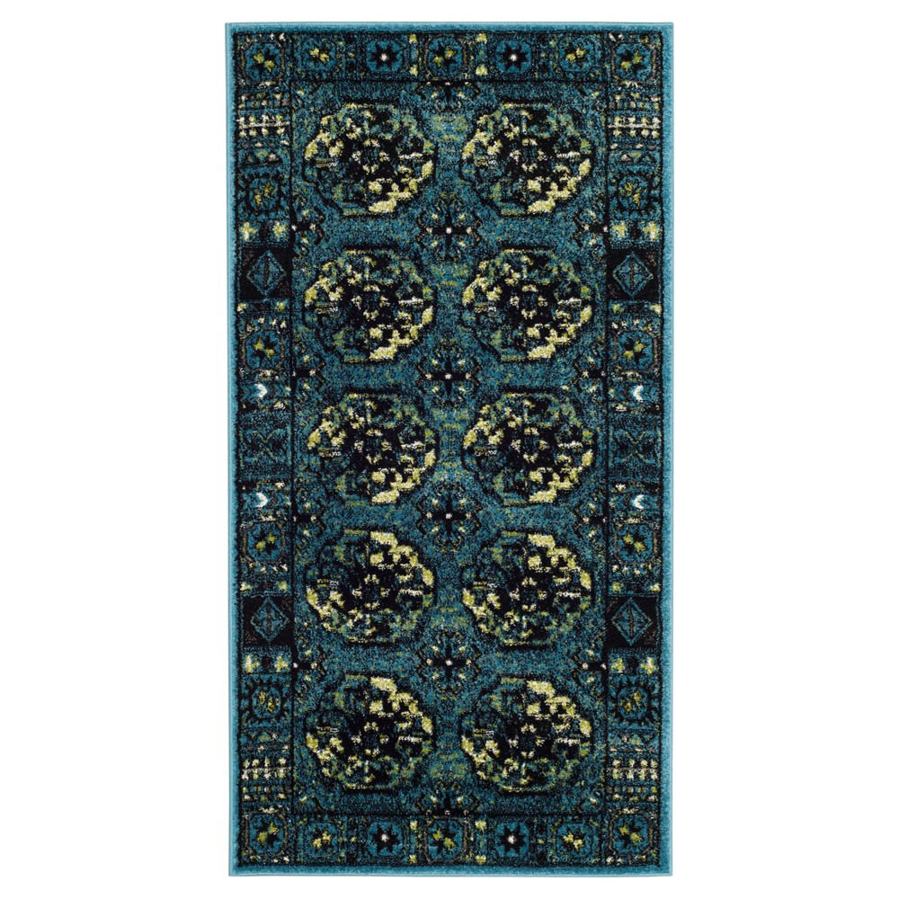 Blue Abstract Loomed Accent Rug - (2'7X5') - Safavieh, Blue/Multi