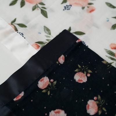 Little Unicorn Cotton Muslin Security Blanket - Watercolor Rose