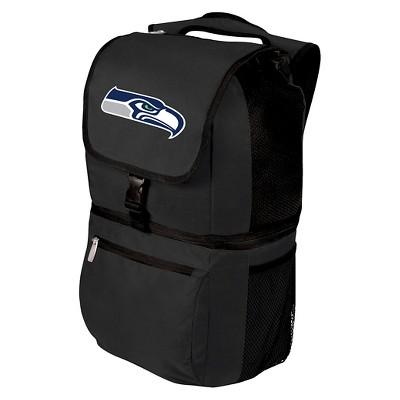Seattle Seahawks Zuma Cooler Backpack by Picnic Time - Black