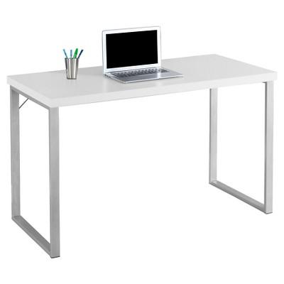 contemporary silver metal computer desk white everyroom target rh target com computer desk white oak computer desk white small