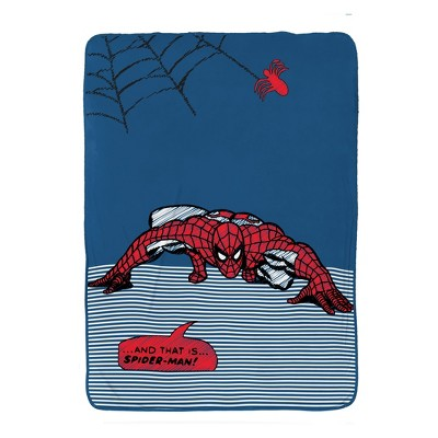 Marvel Spider-Man Twin Bed Blanket Blue/Red