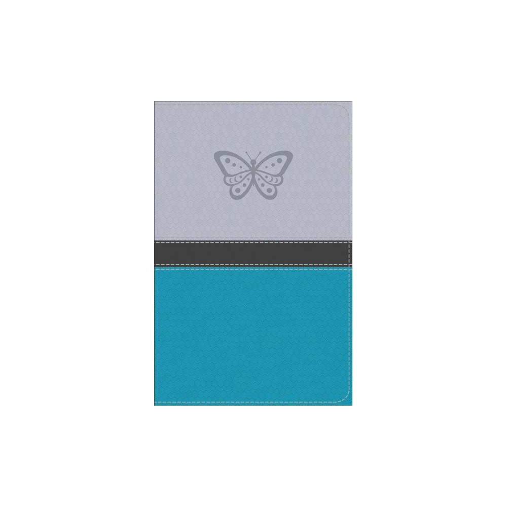 Kjv Study Bible for Girls : King James Version, Silver / Teal, Butterfly Design Leathertouch, Red Letter