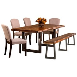 6pc Emerson Rectangle Dining Set Natural - Hillsdale Furniture