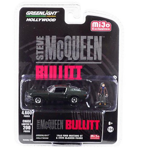 "1968 Ford Mustang GT Green w/ Steve McQueen Figurine ""Bullitt"" Ltd Ed 4600 pcs 1/64 Diecast Car by Greenlight - image 1 of 1"
