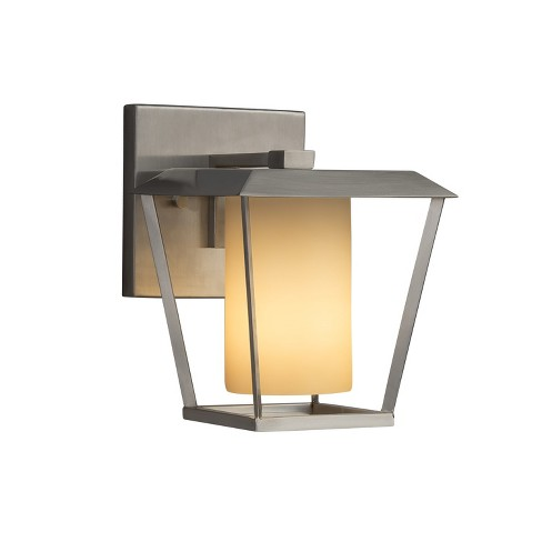 """Justice Design Group FSN-7551W-10-ALMD-LED1-700 Fusion Single Light 8-1/2"""" High Integrated 3000K LED Outdoor Wall Sconce - image 1 of 1"""