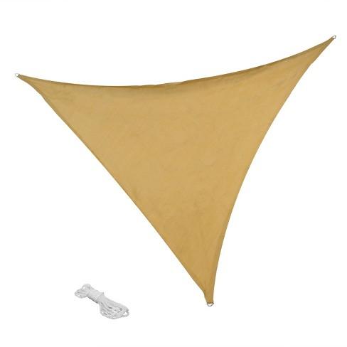 Shade Sail Kit Beige Triangle 12 Sunnydaze Decor Target