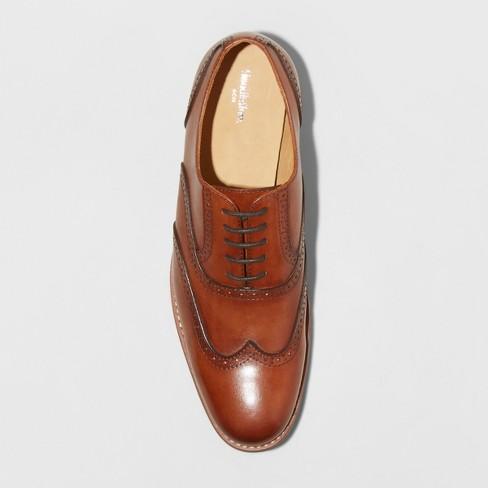 7652fd337acd Men s Pierce Leather Oxford Wingtip Dress Shoes - Goodfellow   Co™ Tan    Target