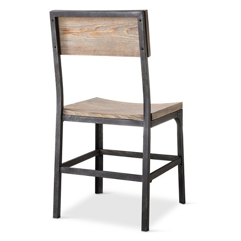 5 More Play Threshold Gray Franklin Wood Seat Dining Chair
