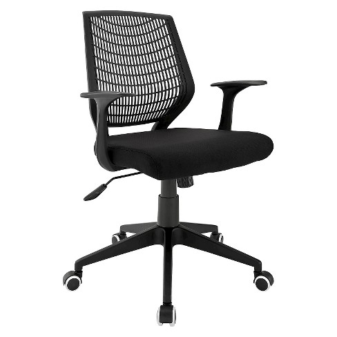 Office Chair Midnight Black - Modway - image 1 of 5