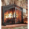 """Plow & Hearth - Large Crest Fireplace Fire Screen with Doors, 44"""" W x 33"""" H at Center - image 2 of 4"""