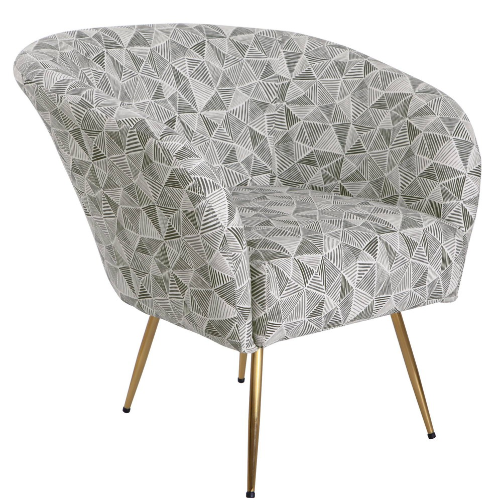 Image of Ashby Accent Chair Gray - HomePop