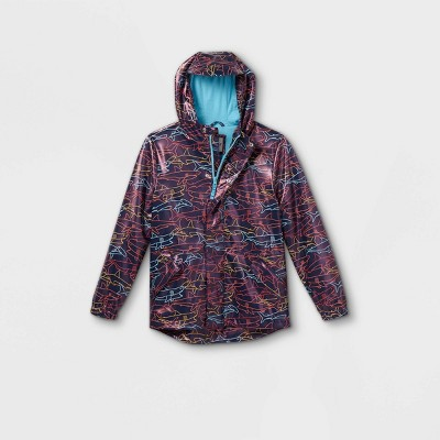 Boys' Shark Print Rain Jacket - Cat & Jack™ Navy