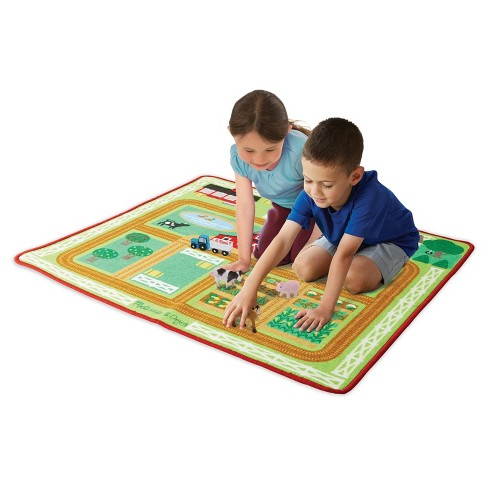 Melissa & Doug® Round the Barnyard Farm Rug - image 1 of 4