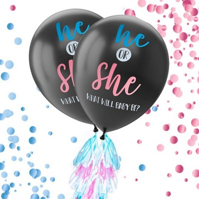 Confetti balloon with Tassel Bumble Bee Theme Bee Balloon What will it Be He or She What Will Baby Bee Gender Reveal Balloon 36  Ideas